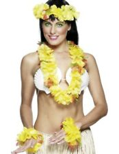 Hawaiian Luau Deluxe Yellow 4 piece Garland Set Fancy Dress Beach Party Smiffys