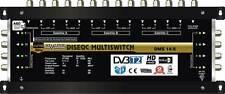 Commutateur Diseqc Multiswitch 14/8 HDTV 3D - 3 sat - 1 ter (+ 1sat) - 8 démos