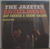 Art Farmer /Benny Golson The Jazztet/Big City Sounds/Argo/LP672/NM-/DG