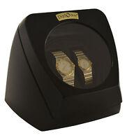Dual Watch Winder Diplomat Case Box Storage Timer Black Dual Automatic