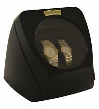 Watch Winder Diplomat Case Box Storage Timer Black Dual Automatic Dual