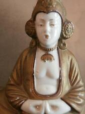 Pied de lampe en porcelaine bouddha vers 1900 Old asian lamp boudda meditation