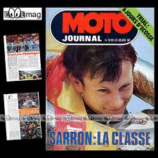 MOTO JOURNAL N°315 TRIAL CHRISTIAN DESNOYERS CHARLES COUTARD MORINI 250 1977