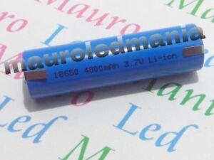 Batterie LC18- Linguette Paglietta da saldare Litio Ricaricabile 3.7V 4800mAh PV