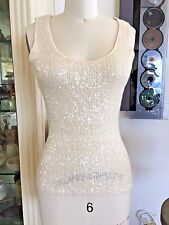 Donna Karan Black Collection Sequin Sweater Cashmere/Silk S (M), $1,200