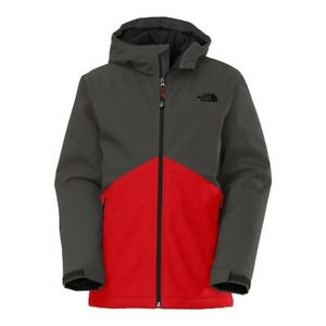 New The North Face Boys Apex Elevation Soft-Shell Hooded Ski Jacket Coat Red