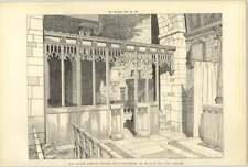 1904, New Screen, Dymock Church Gloucs, Roland Paul Architect