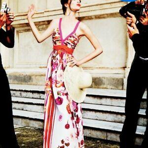 Alberta Ferretti Floral Maxi Dress