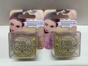 (2) Invisibobble Invisi Bobble The Traceless Hair Ring Original *3 Pack* Blonde