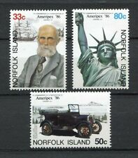 28197) NORFOLK ISLAND 1986 MNH** Nuovi** Ameripex 3v