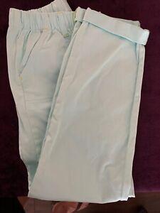 Cat & Jack Girl's drawstring elastic waisted Teal pants  size M (7/8)   NWOT