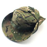 Unisex Sun Camo Bucket Hat Boonie Hunting Fishing Outdoor Cap Wide Brim Military