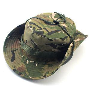 Sun Camo Bucket Hat Boonie Hunting Fishing Outdoor Cap Wide Brim Military Unisex