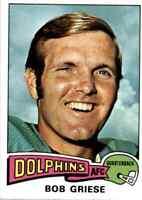 1975 Topps #100 Bob Griese HOF Miami Dolphins / Purdue Boilermakers