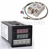 Digital 220V PID REX-C100 Temperature Controller + max.40A SSR + K  US