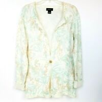 EDDIE BAUER Women's Button Cardigan Sweater Tunic Long Sleeve 100% Cotton size L