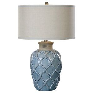 Uttermost (27139-1) Parterre Pale Blue Ceramic Table Lamp $432 MSRP New Fast ⭐️