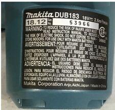 Makita Dub183Z 18V Lxt Lithium-Ion Cordless Floor Blower