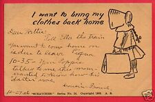 I WANT TO BRING MY CLOTHES BACK HOME SCRATCHES SERIES 1905 ROSINBARGER  POSTCARD
