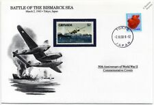 WWII 1943 Battle of the Bismarck Sea Aircraft/Warship Stamp Cover (Danbury Mint)