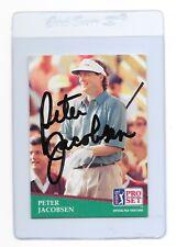 PETER JACOBSEN Signed 1991 PRO SET Golf Card #171 PGA Oregon DUCKS Tin Cup Movie