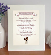 Parson Russell Terrier Thank You From The Dog 8 x 10 Picture/10x8 Print Fun Gift