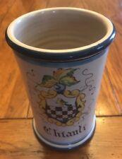 "Wine Holder/Cooler Pottery 7.5T x 4.5W Made in Italy La Piccola ""Chianti"" New"