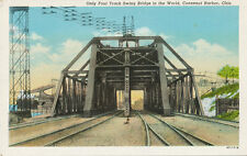 Conneaut Harbor OH * Only 4 Track Swing Bridge in World 1930s * Ashtabula Co.