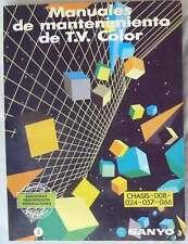MANUALES DE MANTENIMIENTO DE T.V. COLOR - SANYO / ED. AURA 1987 - VER ÍNDICE