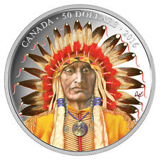 2016 $50 FINE SILVER COIN WANDUTA: PORTRAIT OF A CHIEF