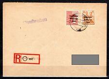 SBZ 1948 Mi.195a gestempelt auf R-Brief geprüft signiert Paul BPP (aus 182-197)