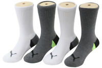 Puma Little Kid/Big Boy's 4-Pairs White/Grey Sport Crew Socks