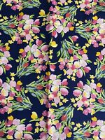 BTY Riley Blake Fruitful Pleasures Pink Tulips Print 100% Cotton Quilt Fabric