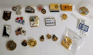 Vintage Rotary Club Lot of 20 Enamel lapel pins tie tack Berkeley California