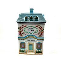 Vintage Lenox Village Canisters Flour Bake Shoppe Fine Porcelain 1990