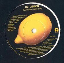 """U2 - Lemon YELLOW VINYL 1993 DJ 10"""""""