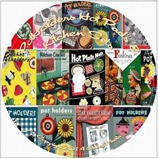 Pot Holder and Hot Pad Pattern Design Library 13 Vintage Books knit crochet cd