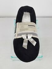 NEW Serra Size 11-12 Ladies Black Ballerina Slippers With Memory Foam Cushion