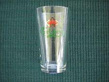 Vintage Carlsberg Beer One Pint Glass Red, Green, Gold Logo Storage Find New