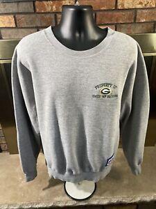 Vintage Green Bay Packers NFL Football Crewneck Sweatshirt Mens XL Champion Gray
