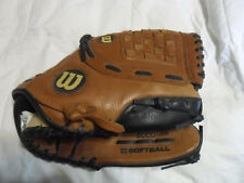 """Wilson A525 Softball Exclusive Ecco Leather 12 1/2"""" Glove NWOT Beauty!"""