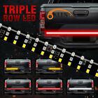 60 3 Row 432 Led Strip Tailgate Light Bar Truck Reverse Brake Rear Tail Light