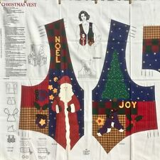 New listing Cranston Vip Fabric Panel make Christmas Vest Adult Xs-L 6-20 Dreamspinners Oop