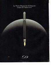 PUBLICITE ADVERTISING 027  1981  S.T Dupont le  stylo porte-plume laque de chine