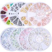 Glitter Gems 3D Nail Art Rhinestones Acrylic Tips Sticker Decorations
