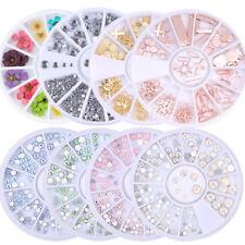 Glitter Gems 3D Nail Art Rhinestones Acrylic Tips Sticker Decorations
