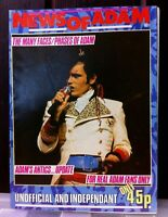News of Adam Ant. Adam's own monthly Fan Magazine Number 1. 1982. London. A5.