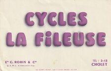 BUVARD 201026  CYCLES LA FILEUSE CHOLET PAPIER BLANC*02