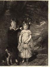 EAU FORTE 1860 / FRERE ET SOEUR Sir William Beechey 1753-1836