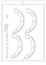 Parking Brake Shoe Set-Dash4 Rear Dash 4 Brake B831